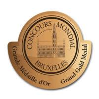 Médaille d'or Concours Mondial Bruxelles